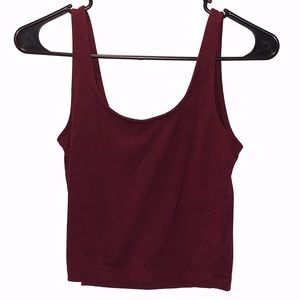 Forever 21 Burgundy Crop Top SIZE: Medium